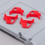 Schiebeschnappverschluss rot zu EuroBoxen bei ZHS kaufen