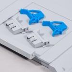 Schiebeschnappverschluss und Scharnier blau zu EuroBoxen bei ZHS kaufen