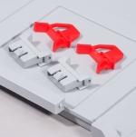Schiebeschnappverschluss und Scharnier rot zu EuroBoxen bei ZHS kaufen