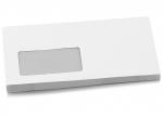 25 Umschläge DIN lang weiß haftklebend mit Fenster bei ZHS kaufen