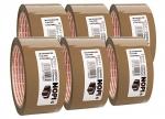 6 x Packband 66 m x 50 mm, braun bei ZHS kaufen