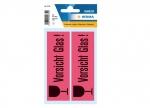 10 x Etiketten Vorsicht Glas bei ZHS kaufen