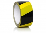 6 x Packband gelb/schwarz schraffiert 66 m x 55 mm bei ZHS kaufen