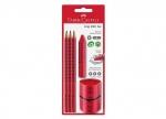 Bleistift Set Grip 2001, rot - 5tlg.bei ZHS kaufen