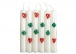6 x Kerzen Herz und Kleeblatt - 6er Pack bei ZHS kaufen