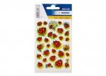 10 x Sticker Marienkäfer u Blume - 3 Blatt bei ZHS kaufen