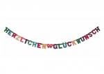 Produktbild 10 x Buchstabenkette Herzlichen Glückwunsch