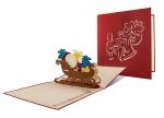 5 x Klappkarte Santa auf Schlitten bei ZHS kaufen