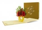 5 x Klappkarte Blumenbouquet (rot-grün) bei ZHS kaufen