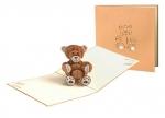5 x Klappkarte Teddy bei ZHS kaufen