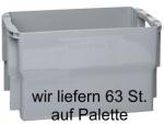 1 Palette 63 St. Letterbox, Postbehälter Gr. 2 grau ohne Deckel 25 Ltr