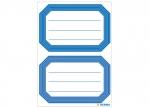 10 x Schuletiketten Blauer Rand