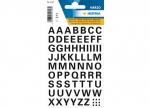10 x Etiketten Buchstaben schwarz 10 mm
